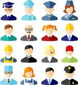 Set of colorful people occupation icons — Cтоковый вектор