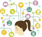 Education concept of children — Stock Vector