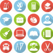 Education icons — Stock Vector #51581401