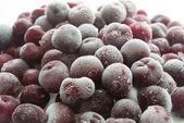 Frozen cherry close-up — ストック写真