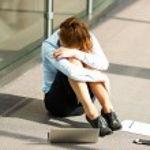 Overwhelmed businesswoman — Stock Photo #48009367
