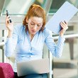 Bussy day in life of a businesswoman — Stock Photo