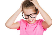 Stressed little girl — Stock Photo