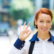 Business woman giving ok sign  — Stock fotografie #48394103