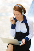 Customer service representative, businesswoman  — Stock Photo