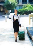 Businesswoman traveling — Stock Photo