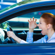 Angry female driver — Stock Photo #48649585
