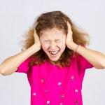 Stressed teen girl screaming, shouting — Stock Photo #49816501