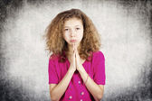 Little girl begging for forgiveness  — Stockfoto