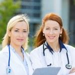Portrait of female health care professionals, nurses — Stock Photo