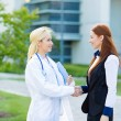 Doctor patient relationship. Handshake — Stock Photo #50329873