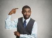 Man asking are you crazy, idiot? — Stock Photo
