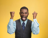 Angry mad, pissed off executive man screaming  — 图库照片