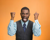 Angry mad, pissed off executive man screaming  — Foto de Stock