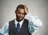 Sad, depressed man — Stock Photo