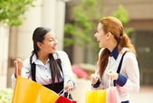 Happy shopper women — Stock Photo