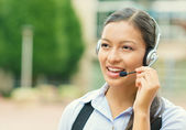 Woman customer service representative — Stock Photo