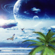 Illustration of tropical Dreamland — Stock Photo #51629769
