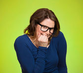 Anxious insecure woman — Foto Stock
