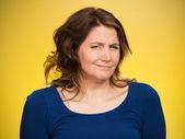 Skeptický žena — Stock fotografie