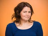 Sceptyczny kobieta — Zdjęcie stockowe