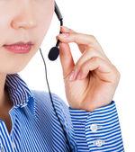 Customer service representative with headset — Stock Photo