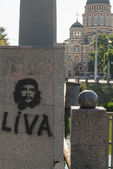 Guevara and church — Stock Photo
