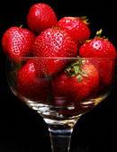 Strawberries in glass — Stock Photo