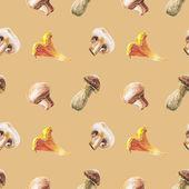 Watercolor mushroom pattern — Foto Stock