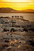 Sunset in Mykonos — Foto Stock