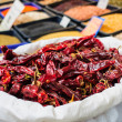 Dried Peppers in the market — Stock Photo #48440287