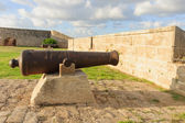 Old Guns on Acre Walls — Stock Photo