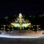 Bahai gardens at night, Haifa — Stock Photo #51164957
