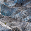 Climber on the glacier — Stock Photo #48998447