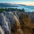 Pancake Rocks at Punakaiki — Foto Stock