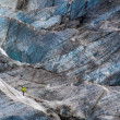 Climber on the glacier. — Stock Photo #49596581