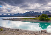 Lake Pukaki and Southern Alps — Stock Photo