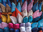 Colorful arabic shoes — Stock Photo