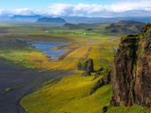 Iceland green hills — Stock Photo