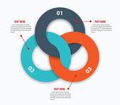 Modern business ring options infographics. Vector illustration — Stockvektor
