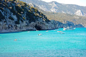 Cala Luna.Emerald waters in Sardinia — Stock Photo