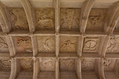 Coffered ceiling view — Stock Photo