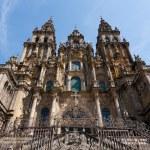 Baroque facade of Santiago de Compostela cathedral — Stock Photo #48959159