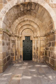 Severní dveře santiago kostel v la coruna — Stock fotografie
