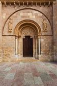 Beautiful romanesque door of San Isidoro Collegiate in leon — Stock Photo