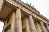 Brandenburg gate closeup view in Berlin — Foto Stock