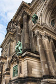 Detail of Evangelical Supreme Parish and Collegiate Church in Be — Stock Photo