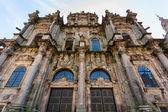 Santiago de Compostela Cathedral North door entrance closeup vie — ストック写真