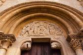 Romanesque style door of San Isidoro Collegiate in leon — Stock Photo