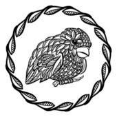 Grafisk birdie — Stockvektor